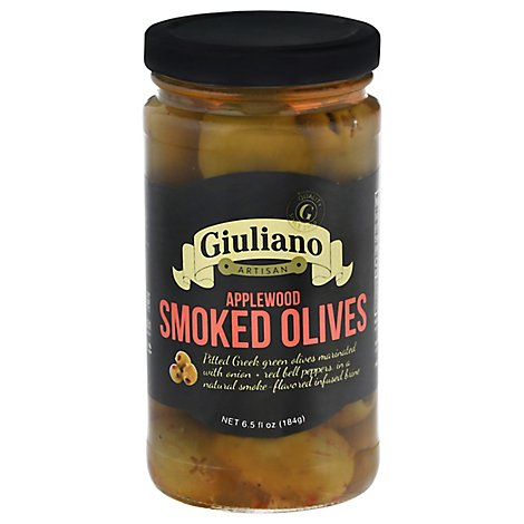 Giulianos Olives Applewood Smoked - 7 Oz