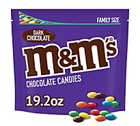 M&Ms 50% Cacao Dark Chocolate Candies Family Size 19.2 Oz