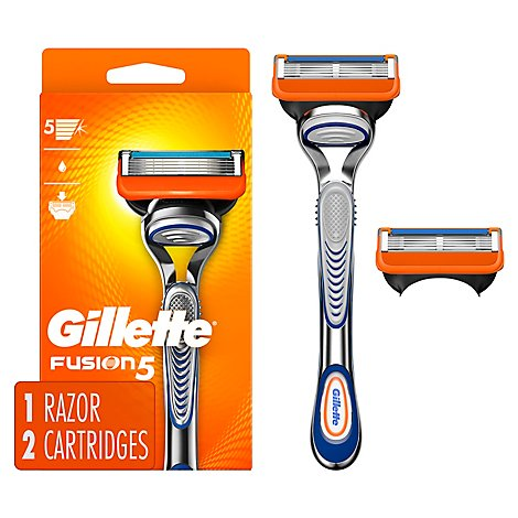 Gillette Fusion5 Mens Razor Handle + 2 Blade Refill - Each