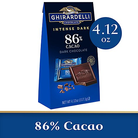 Ghirardelli Intense Dark Chocolate Squares 86% Cacao Midnight Reverie - 4.12 Oz