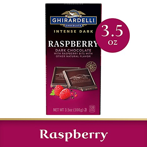 Ghirardelli Intense Dark Chocolate Bar Raspberry Radiance - 3.5 Oz