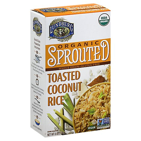 Lundberg Organic Sprouted Rice Whole Grain Toasted Coconut Box - 6 Oz