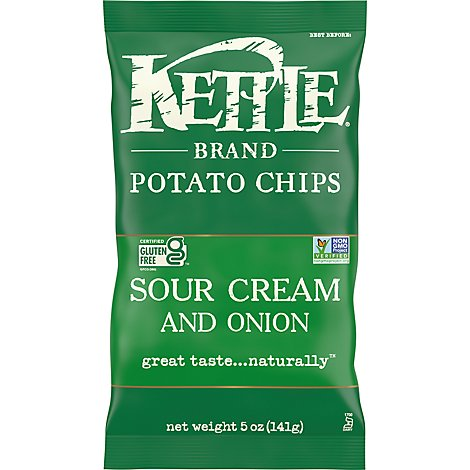 Kettle Potato Chips Sour Cream And Onion - 5 Oz