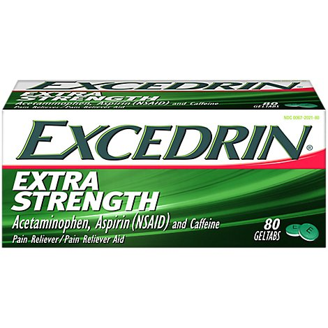 Excedrin Pain Reliever Extra Strength Geltabs - 80 Count