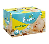 Pampers Swaddlers Diapers Sesame Beginnings Size N Super - 88 Count