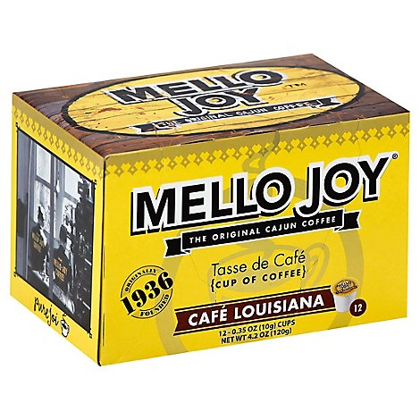 Mello Joy Coffee Single-Serve Cups Cafe Louisiana - 12-0.35 Oz