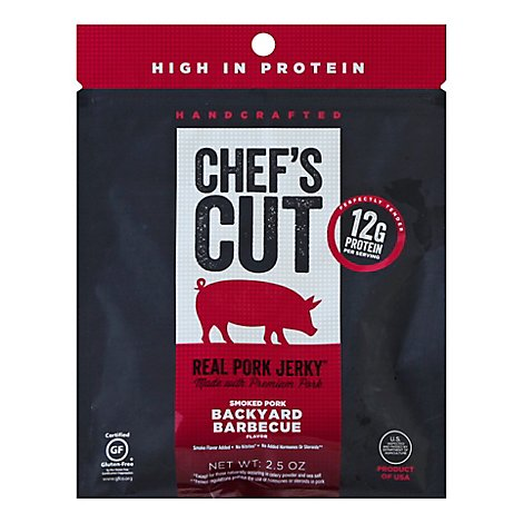 CHEFS CUT Real Jerky Pork Backyard Barbeque Bag - 2.5 Oz