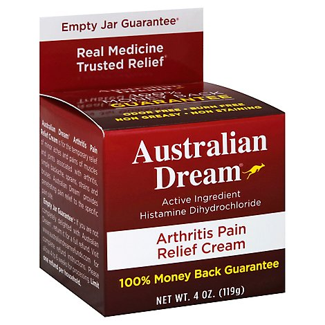 Australian Dream Pain Relief Cream Arthritis - 4 Oz