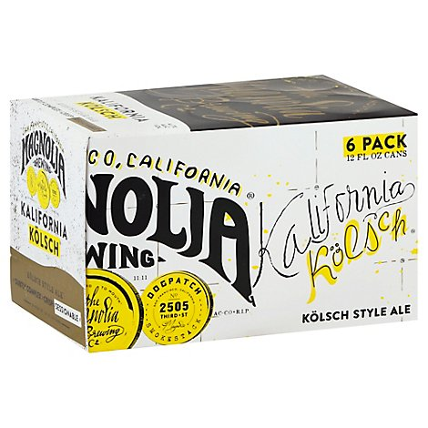 Magnolia Kalifornia Kolsch In Cans - 6-12 Fl. Oz.