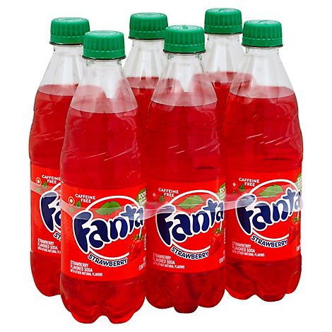 Fanta Soda Pop Strawberry Flavored - 6-16.9 Fl. Oz.
