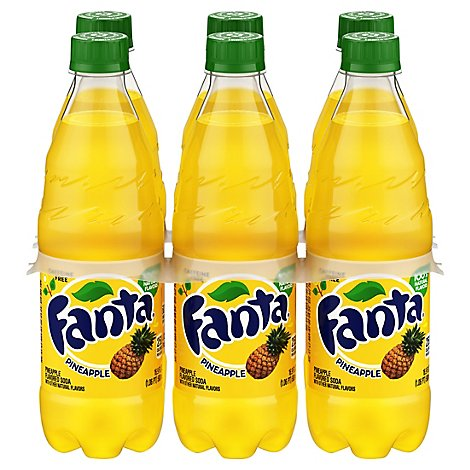 Fanta Soda Pop Pineapple Flavored - 6-16.9 Fl. Oz.