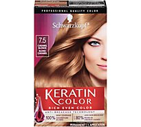 Schwarzkopf Keratin Color Hair Color Anti-Age Caramel Blonde 7.5 - Each