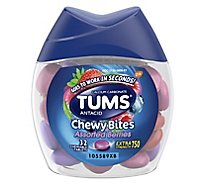 Tums Antacid Tablets Chewable Extra Strength 750 Assorted Berries Chewy Bites - 32 Count