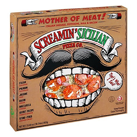 Screamin Sicilian Pizza Mother Of Meat! Frozen - 23.40 Oz