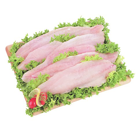 Seafood Counter Fish Cod Fillet Boneless Skinless Frozen Service Case - 1.25 LB