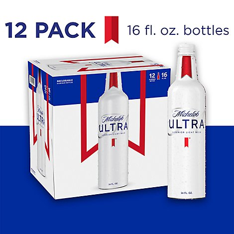 Michelob ULTRA Beer Superior Light Aluminum Bottles - 12-16 Fl. Oz.