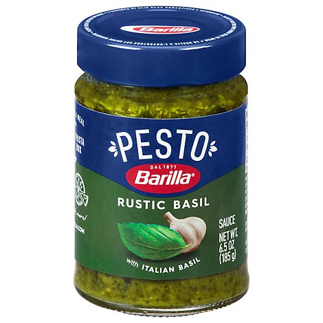 Barilla Pasta Sauce Pesto Traditional Basil Jar 6 Oz Jewel Osco