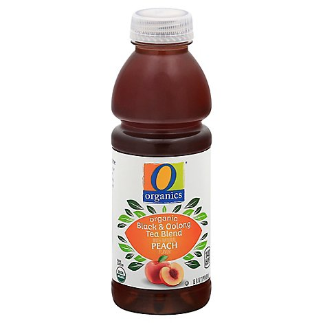 O Organics Tea Oolong And Black Peach Flavored - 16 Fl. Oz.