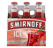 Smirnoff Ice Strawberry In Bottles - 6-11.2 Fl. Oz.