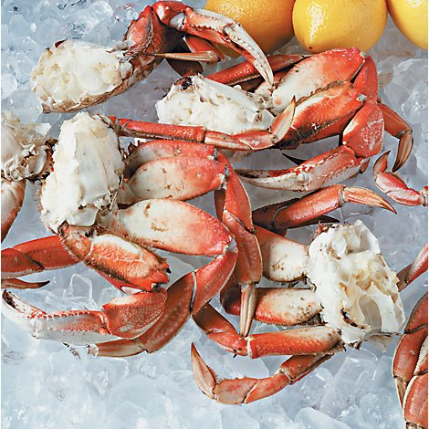 Seafood Counter Frozen Dungeness Crab Clusters Service Case - 1.75 LB