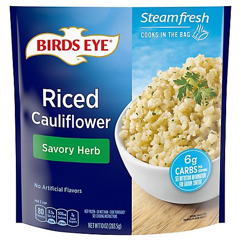 Birds Eye Steamfresh Veggie Made Cauliflower Riced With Savory Herb - 10 Oz