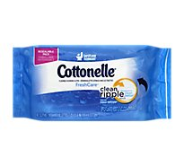 Cottonelle FreshCare Cleansing Cloths Flushable Dispenser Resealable Pack - 42 Count