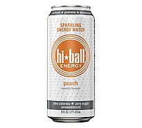 Hiball Energy Energy Water Sparkling Peach - 16 Fl. Oz.