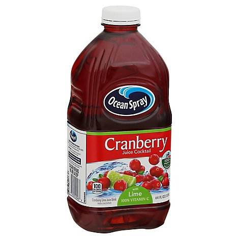 Ocean Spray Cocktail With Lime Cranberry Juice - 64 Fl. Oz.