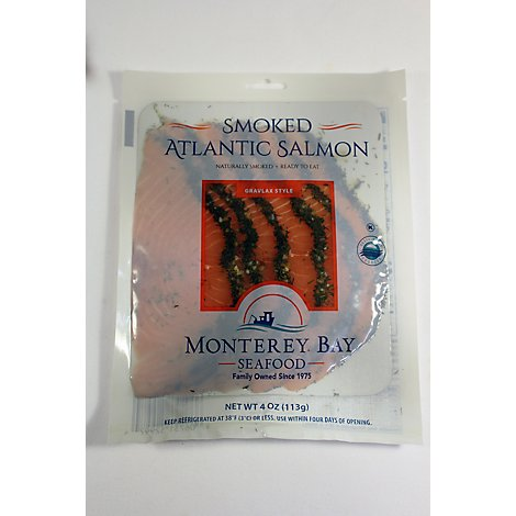 Monterey Bay Seafood Salmon Smoked Atlantic Gravlax - 4 Oz