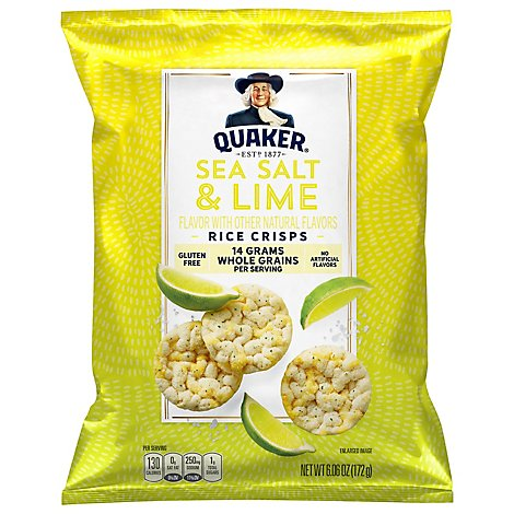 Quaker Popped Sea Salt And Lime - 6.06 Oz