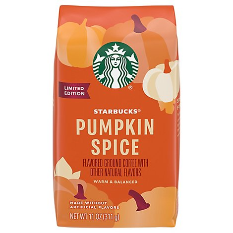 Starbucks Coffee Ground Flavored Pumpkin Spice Limited Edition - 11 Oz