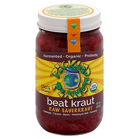 Pickled Planet Beat Kraut - 16 Oz