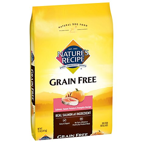 Natures Recipe Dog Food All Natural Grain Free Salmon Sweet Potato & Pumpkin Recipe - 12 Lb