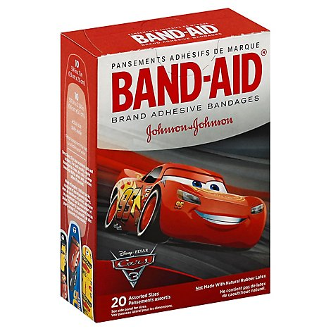 Band-Aid Bandages Cars - 20 Count