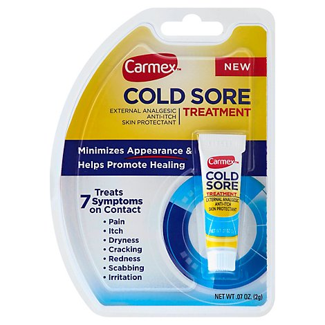 Carmex Cold Sore Sqz Tube - .07 Oz