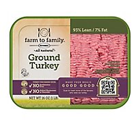 Butterball Turkey Ground Turkey 93% Lean 7% Fat All Natural Fresh - 16 Oz