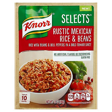 Knorr Selects Rice & Beans Rustic Mexican Pouch - 6.5 Oz