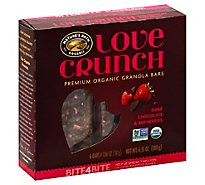 Natures Path Organic Love Crunch Granola Bars Dark Chocolate & Red Berries 6 Count - 6.35 Oz