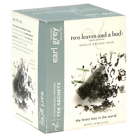 Two Leave And A Bud Black Tea Organic Earl Grey - 15 Count