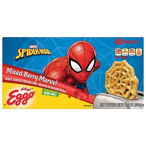 Eggo Waffles Mixed Berry Marvel Spider Man 10 Count - 12.3 Oz