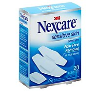 Nexcare Bandages Sensitive Skin Assorted - 20 Count