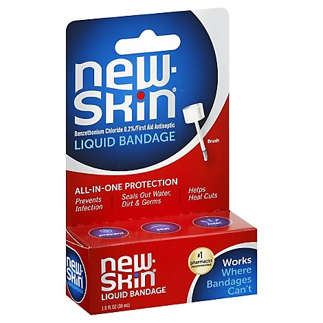 New Skin Bandage Liquid Peg Card Box - Each