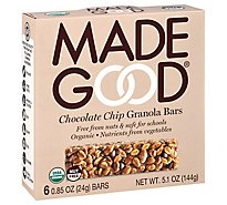 Made Good Chocolate Chip Granola Bars - 5.1 Oz