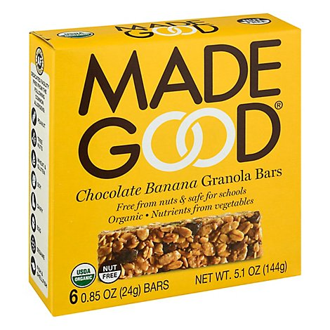 Made Good Chocolate Banana Granola Bars - 5.1 Oz