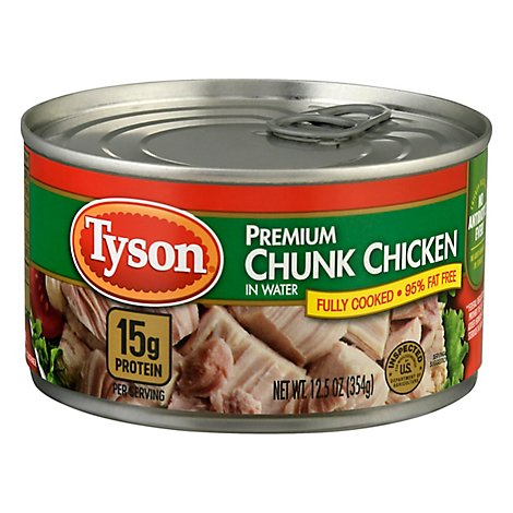 Tyson Premium Chunk White & Dark Chicken - 12.5 Oz