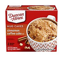 Duncan Hines Perfect Size For 1 Cake Mix Cinnamon Coffee - 4-2.58 Oz