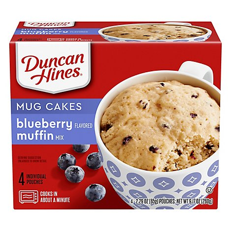Duncan Hines Perfect Size For 1 Muffin Mix Blueberry - 4-2.29 Oz
