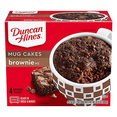Duncan Hines Perfect Size For 1 Brownie Mix - 4-2.64 Oz