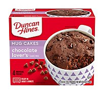 Duncan Hines Perfect Size For 1 Cake Mix Chocolate Lovers - 4-2.54 Oz