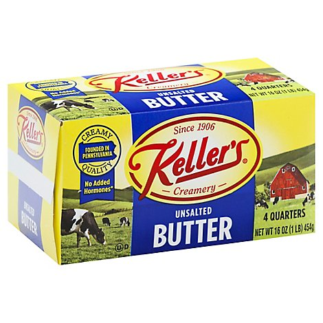 Kellers Unsalted Elgin Quarters - 1 Lb